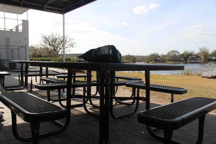 Shot looking at Lake Myrtle from patio